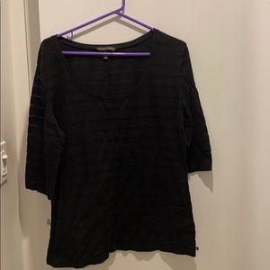 VS black short sleeve striped t-shirt, XL